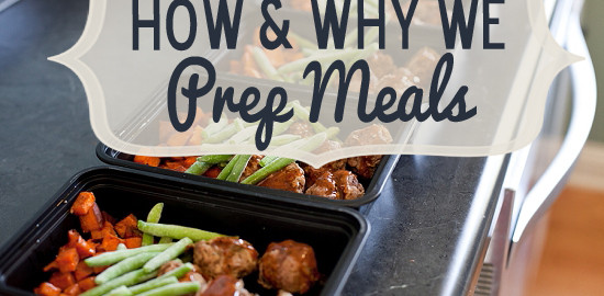 meal prepping with gym bunny
