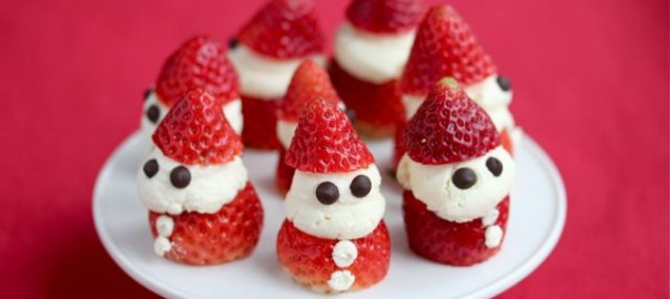 Strawberry-Santas= Healthy-Living