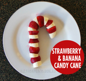 strawberry and banana candy cane