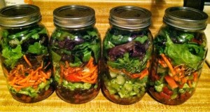 meal prep salad jars